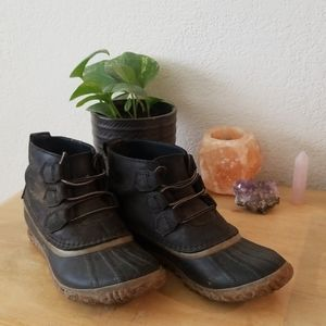 Sorel Out n About Leather Rain boot